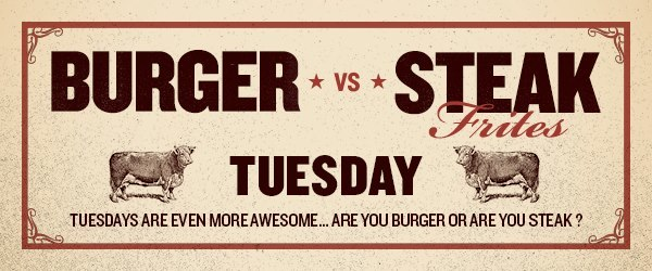 Burger vs Steak