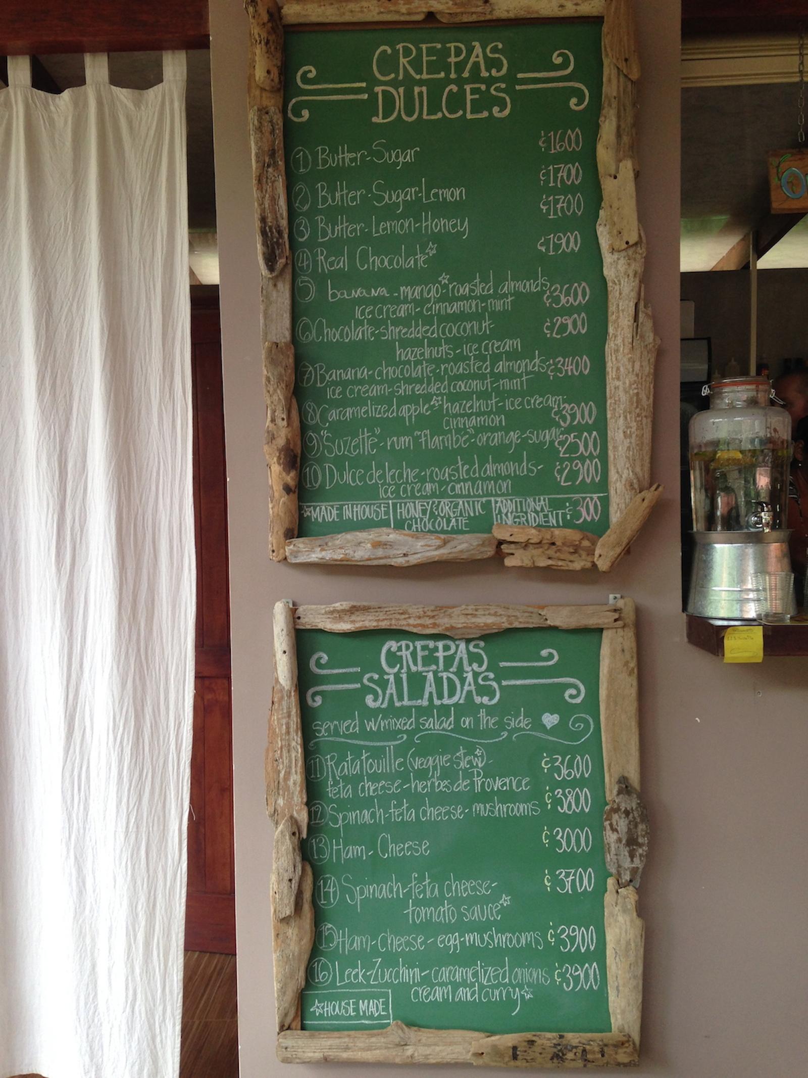 La Creperie_chalkboard menus